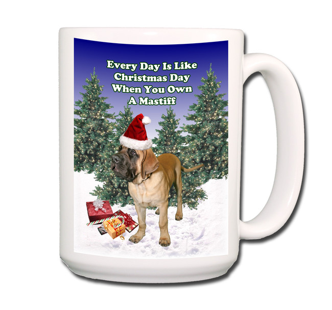Mastiff Christmas Holidays Coffee Tea Mug 15oz
