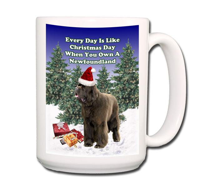 Newfoundland Christmas Holidays Coffee Tea Mug 15oz (Brown)