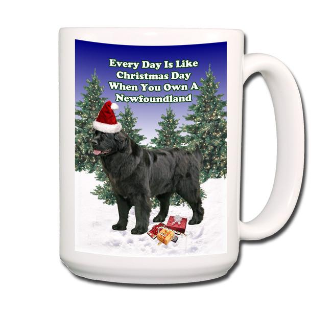 Newfoundland Christmas Holidays Coffee Tea Mug 15oz (Black)