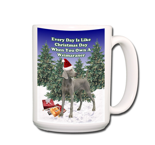 Weimaraner Christmas Holidays Coffee Tea Mug 15oz