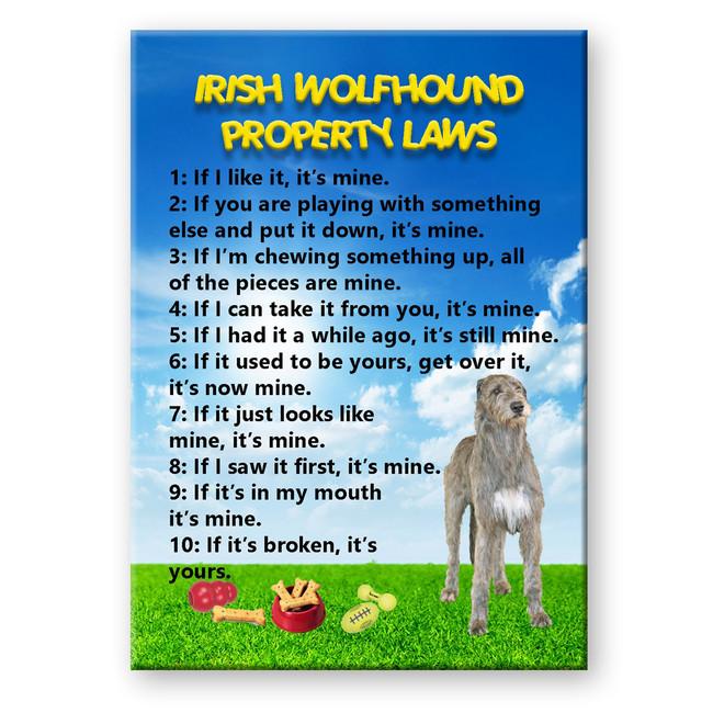 Irish Wolfhound Property Laws Fridge Magnet