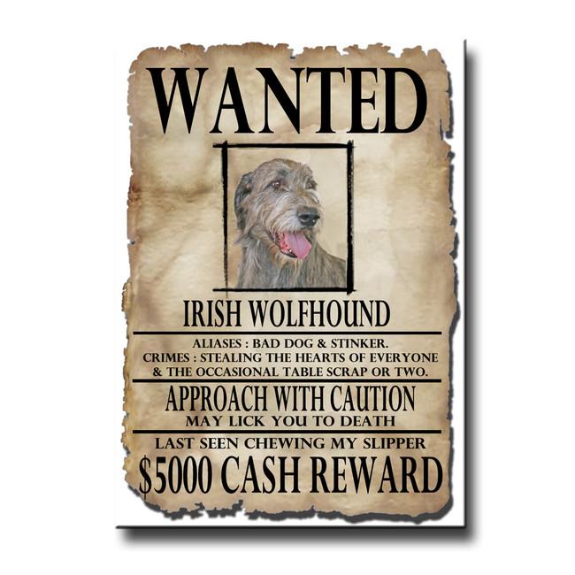 Irish Wolfhound Wanted Poster Fridge Magnet