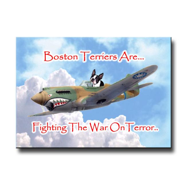 Boston Terrier War on Terror Fridge Magnet