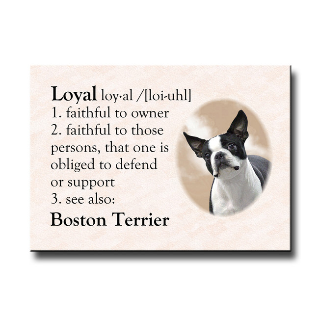 Boston Terrier Dictionary Loyal Fridge Magnet