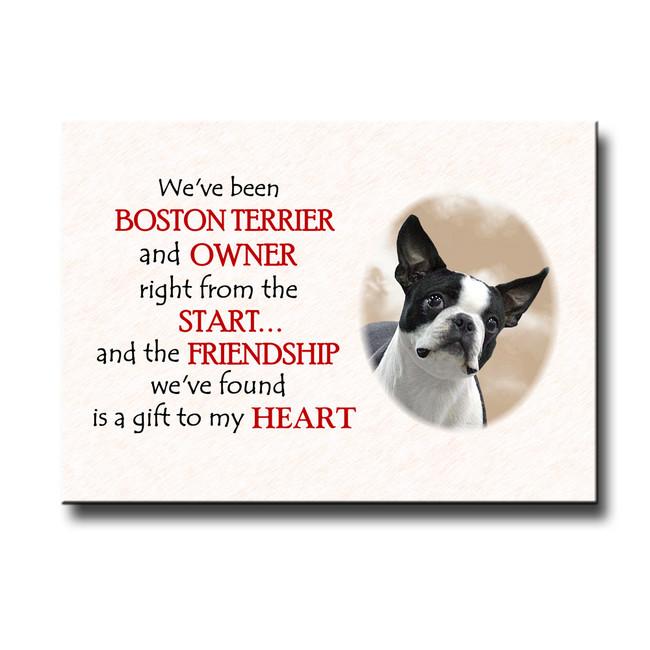 Boston Terrier Friendship Fridge Magnet