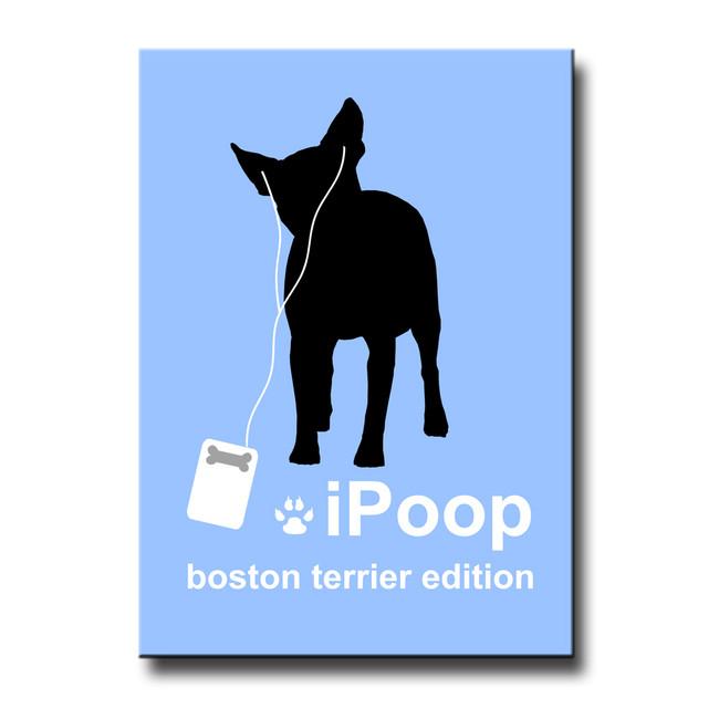 Boston Terrier iPoop Fridge Magnet