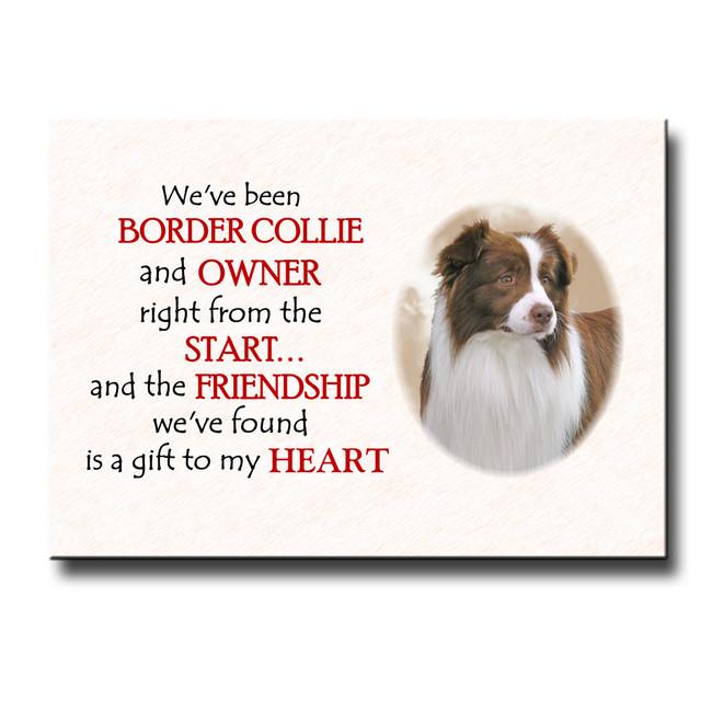 Border Collie Friendship Fridge Magnet No 2