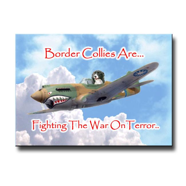 Border Collie War on Terror Fridge Magnet No 1