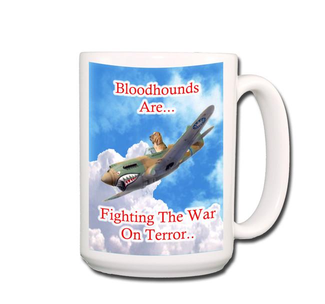 Bloodhound War on Terror Coffee Tea Mug 15oz