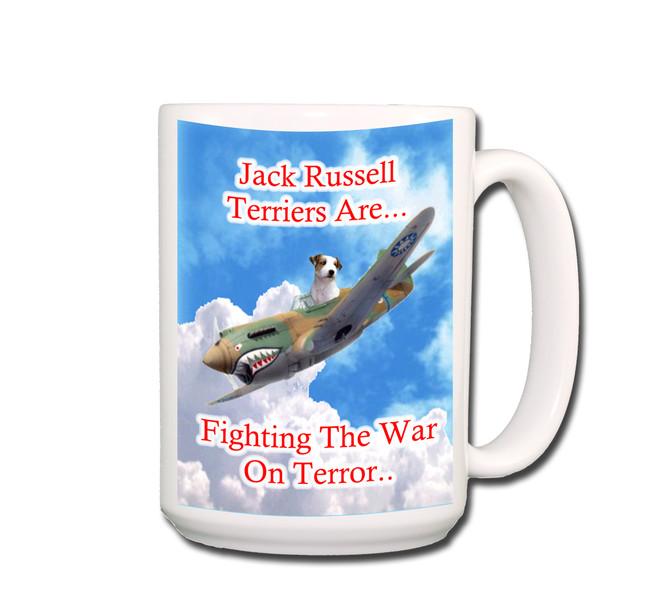 Jack Russell War on Terror Coffee Tea Mug 15oz
