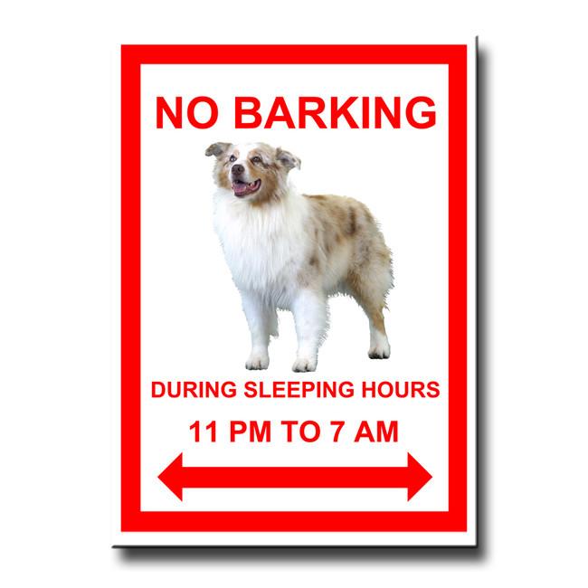 Australian Shepherd Dog No Barking Fridge Magnet