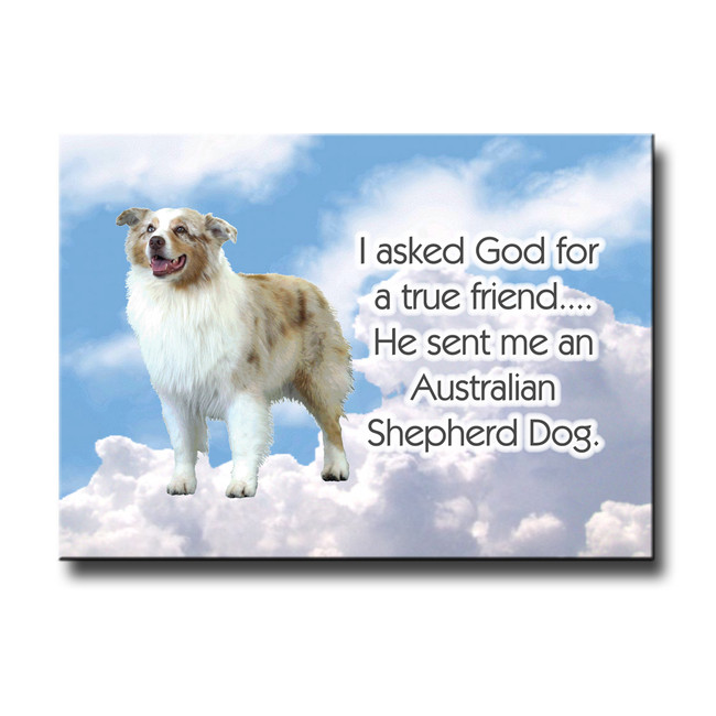 Australian Shepherd Dog True Friend Fridge Magnet