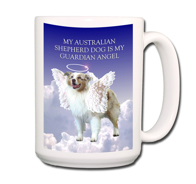 Australian Shepherd Dog Guardian Angel Coffee Tea Mug 15oz