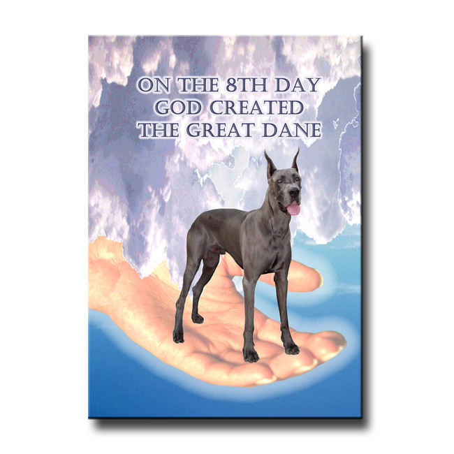 Great Dane 8th Day God Created Fridge Magnet No 1