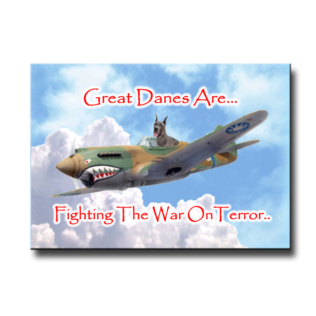Great Dane War on Terror Fridge Magnet No 1