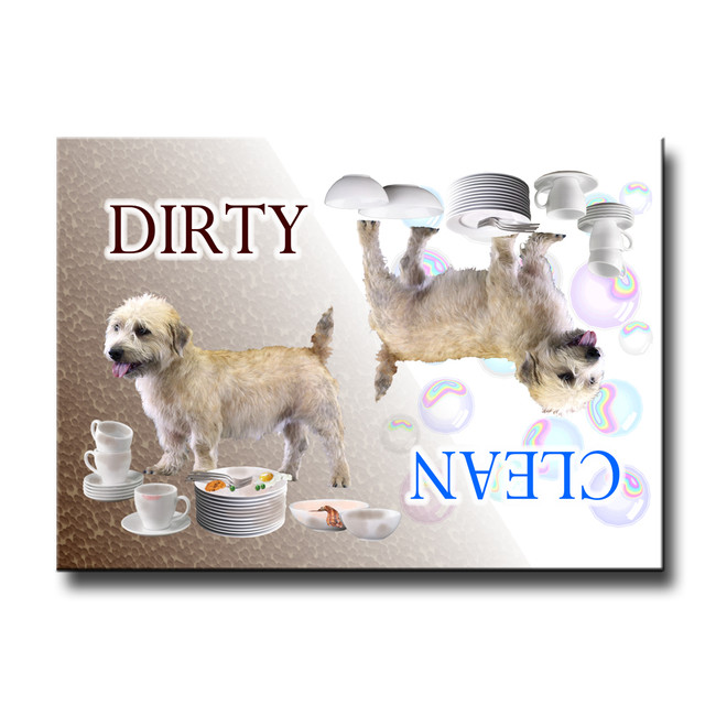 Glen of Imaal Terrier Clean Dirty Dishwasher Magnet