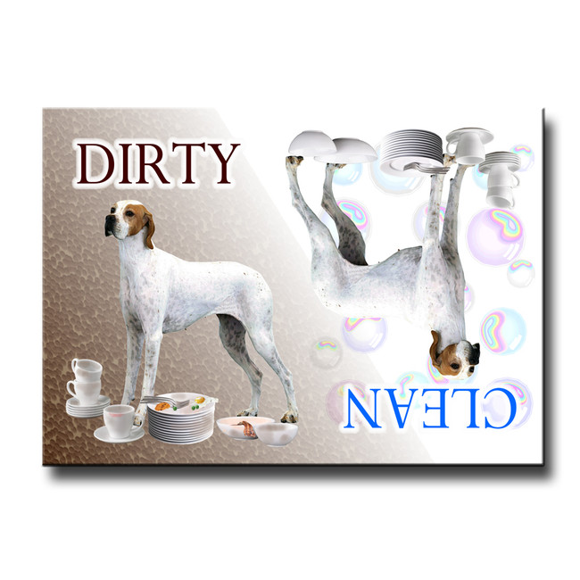English Pointer Clean Dirty Dishwasher Magnet No 2