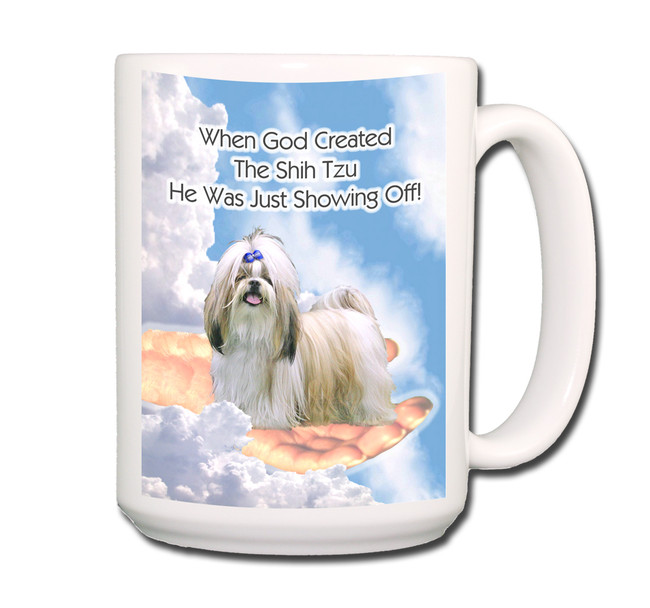 Shih Tzu God Showing Off Coffee Tea Mug 15oz