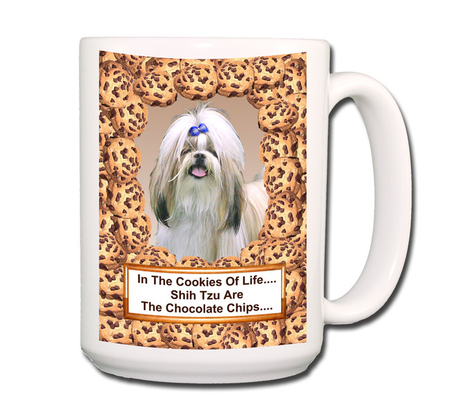 Shih Tzu Cookie Choc Chip Coffee Tea Mug 15oz