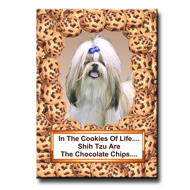 Shih Tzu Cookie Choc Chip Fridge Magnet