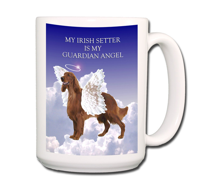 Irish Setter Guardian Angel Coffee Tea Mug 15oz
