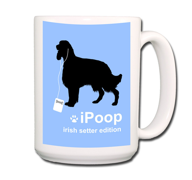 Irish Setter iPoop Coffee Tea Mug 15oz