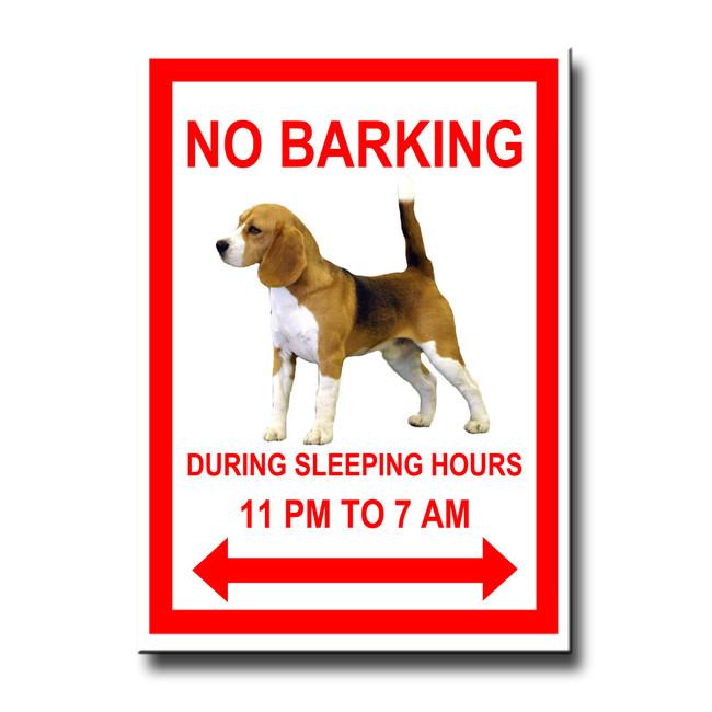 Beagle No Barking Fridge Magnet