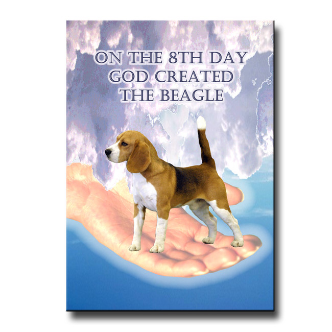 Beagle 8th Day God Created Fridge Magnet