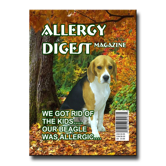 Beagle Allergy Rid of Kids Fridge Magnet