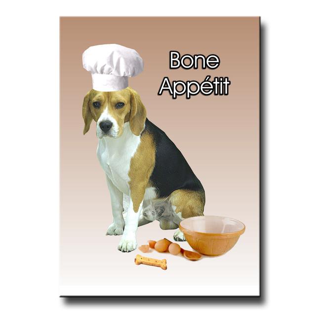 Beagle Bone Appetit Chef Fridge Magnet