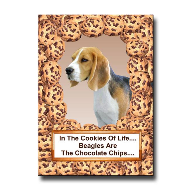 Beagle Cookie Choc Chip Fridge Magnet