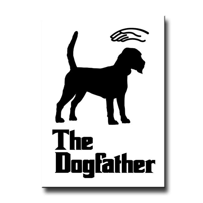 Beagle The Dogfather Fridge Magnet