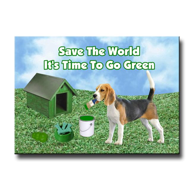 Beagle Go Green Fridge Magnet