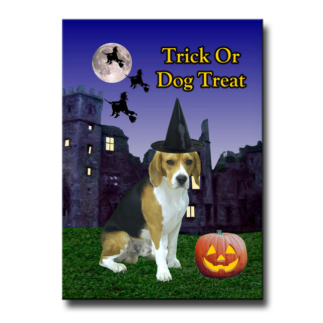Beagle Halloween Fridge Magnet