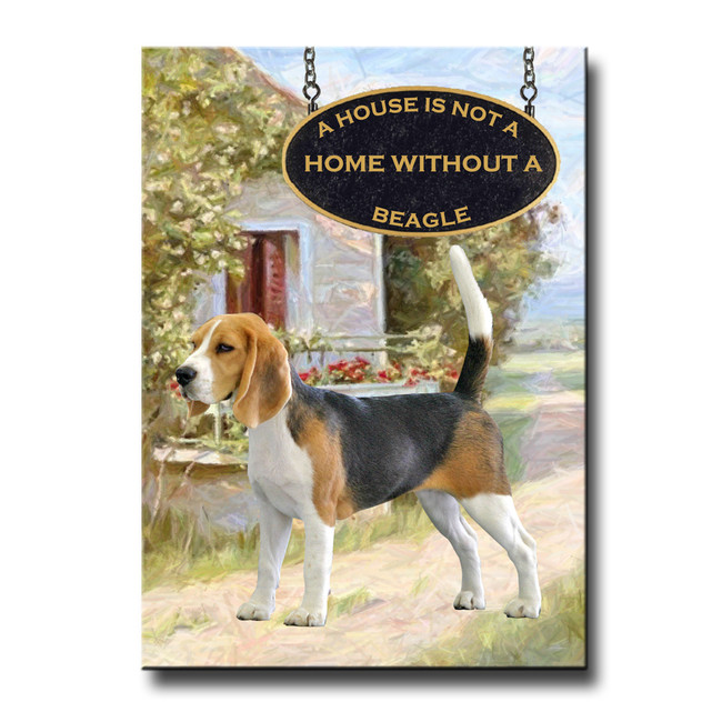 Beagle a House is Not a Home Fridge Magnet