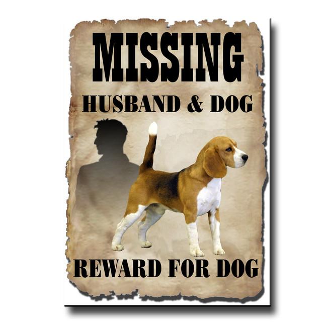 Beagle Husband Missing Reward Fridge Magnet