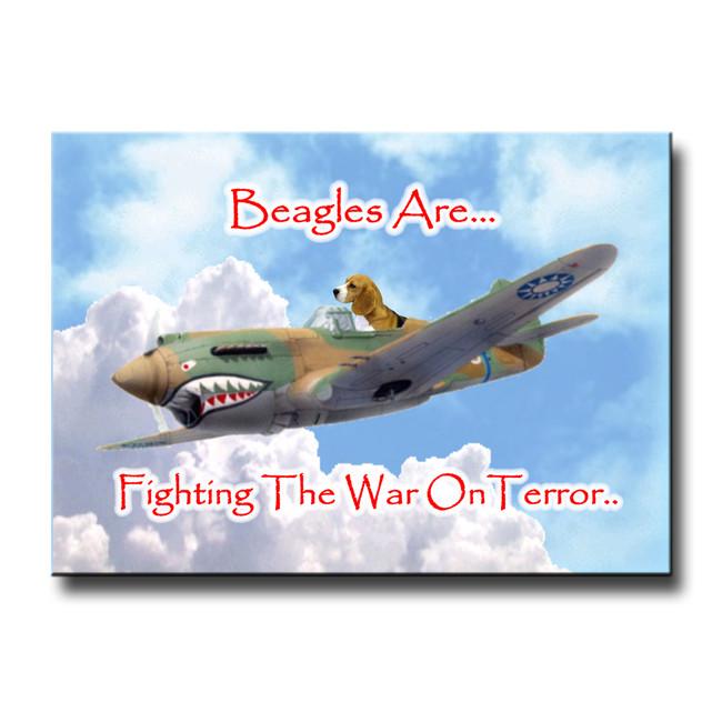 Beagle War on Terror Fridge Magnet