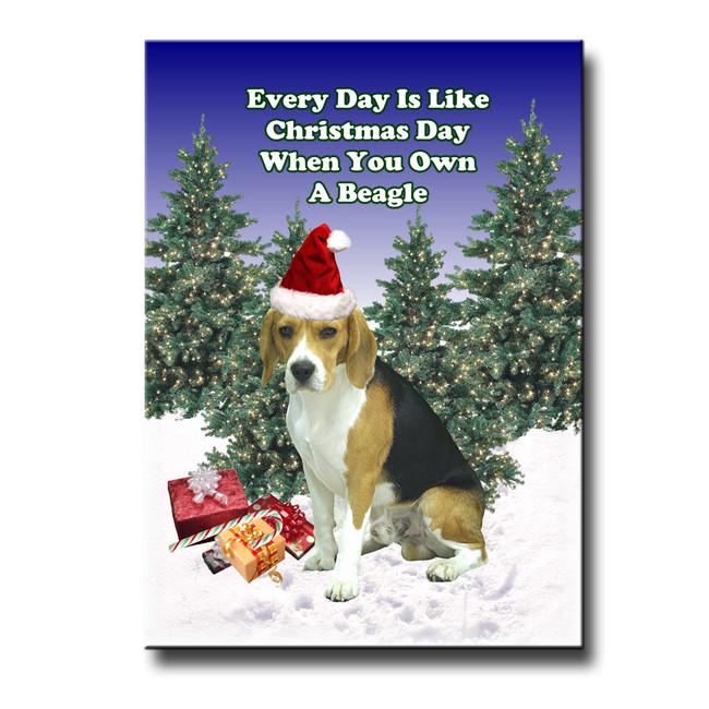 Beagle Christmas Holidays Fridge Magnet