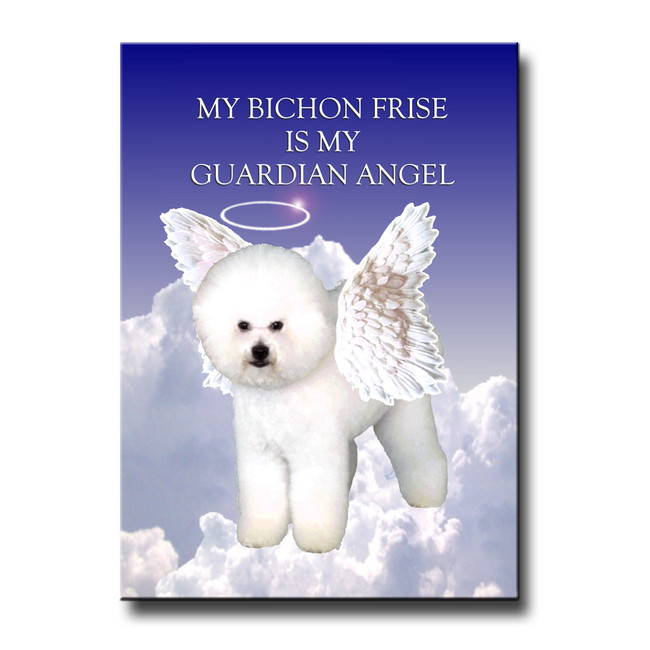 Bichon Frise Guardian Angel Fridge Magnet