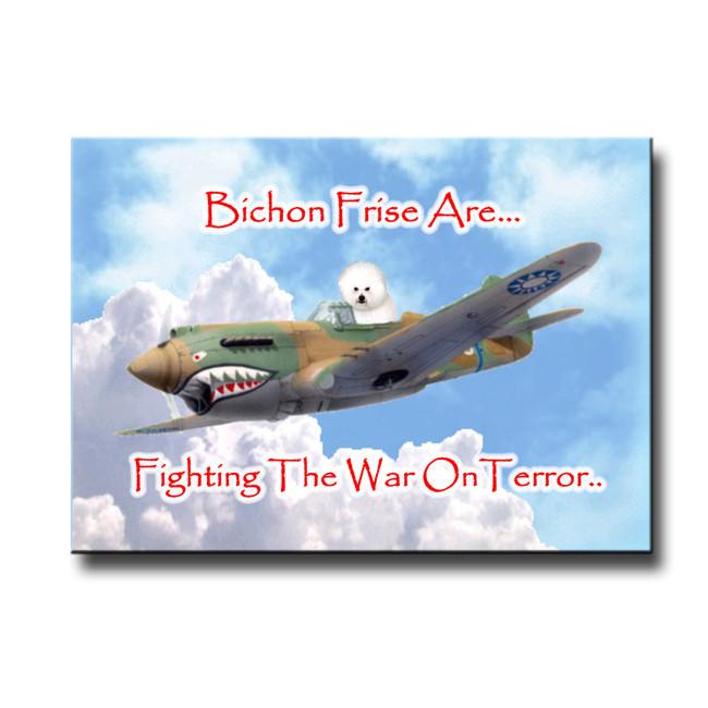 Bichon Frise War on Terror Fridge Magnet