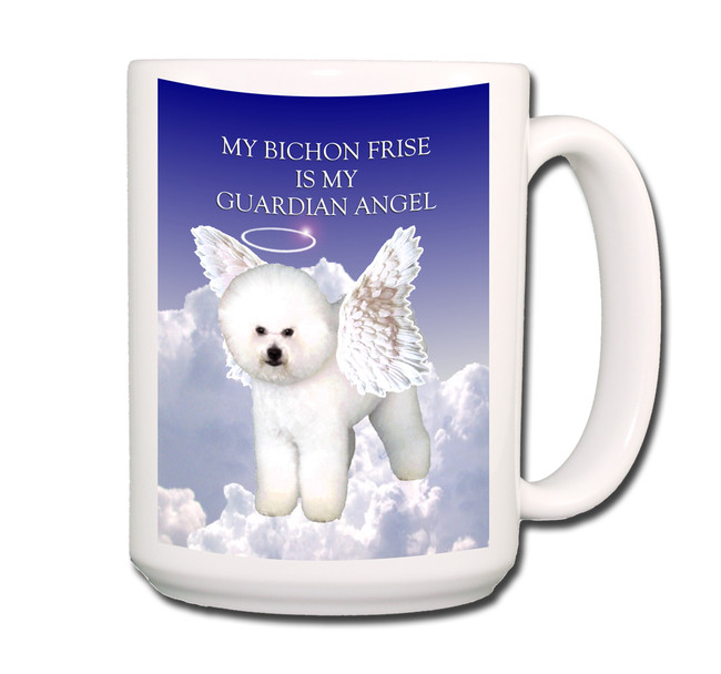 Bichon Frise Guardian Angel Coffee Tea Mug 15oz