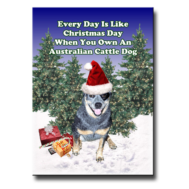 Australian Cattle Dog Christmas Holidays Fridge Magnet