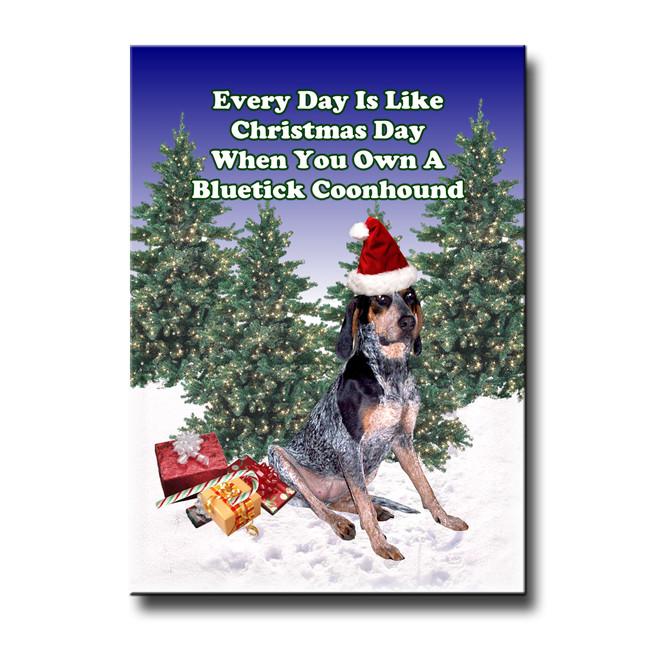 Bluetick Coonhound Christmas Holidays Fridge Magnet