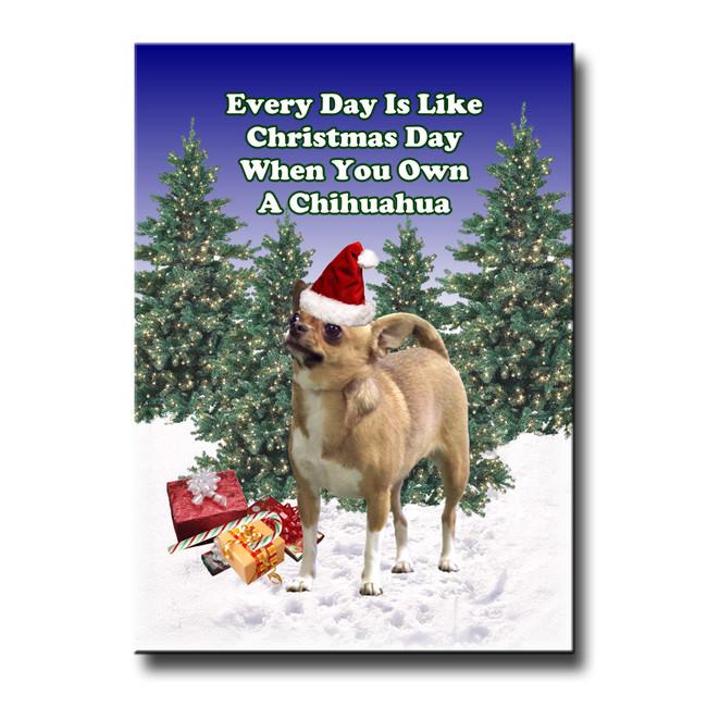 Chihuahua Christmas Holidays Fridge Magnet No 1