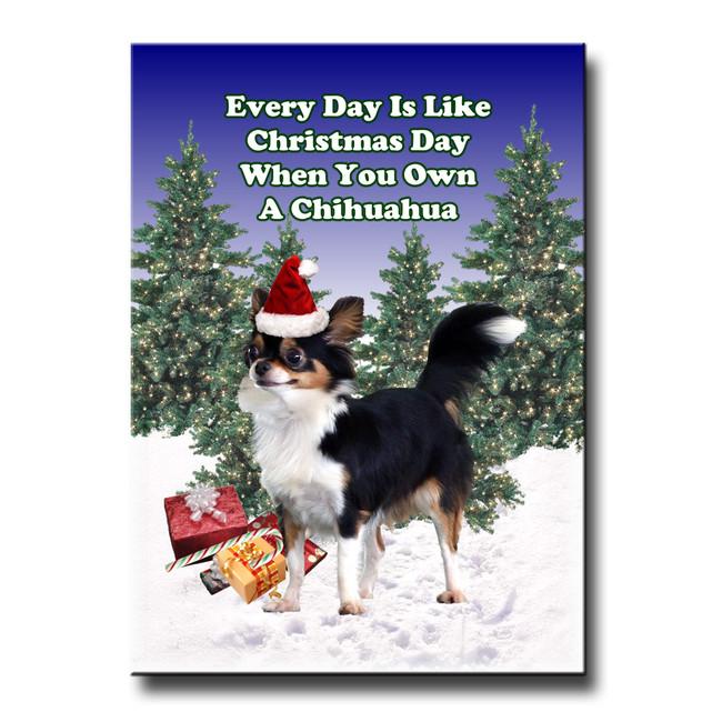 Chihuahua Christmas Holidays Fridge Magnet No 2