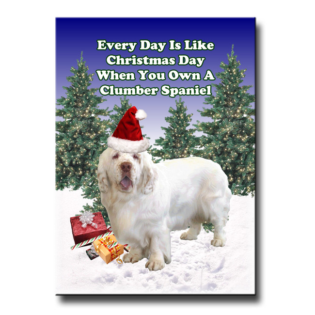 Clumber Spaniel Christmas Holidays Fridge Magnet