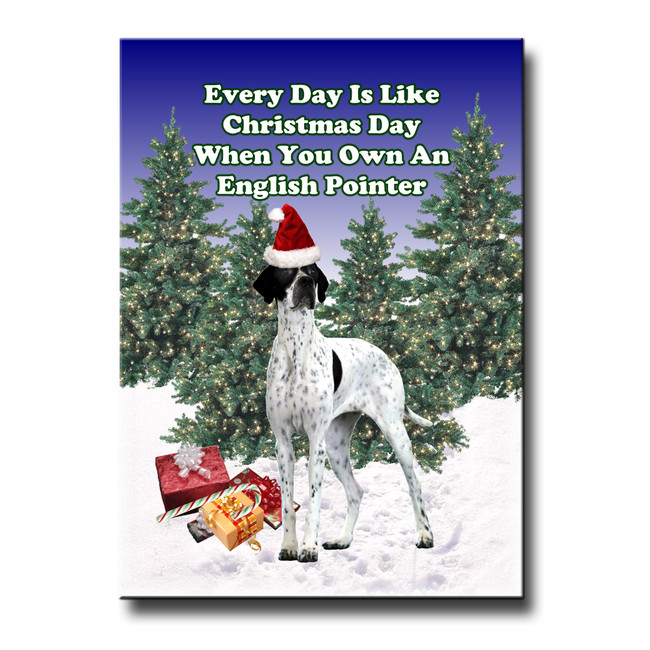 English Pointer Christmas Holidays Fridge Magnet