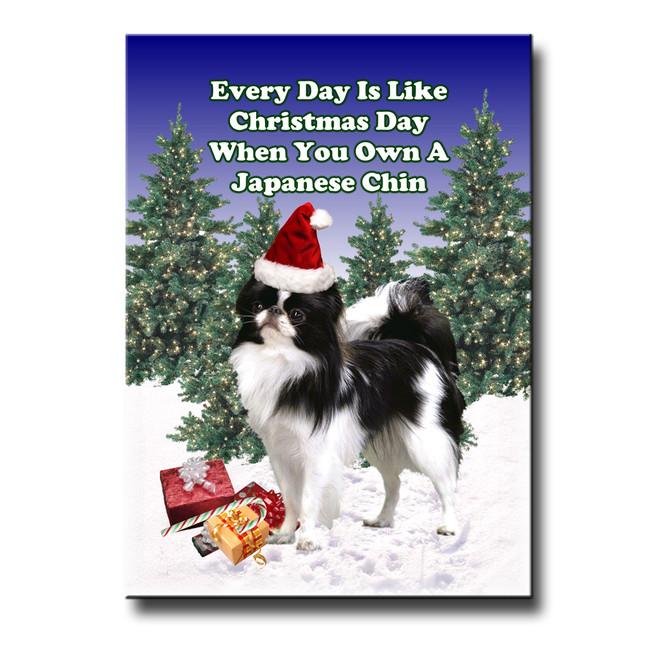 Japanese Chin Christmas Holidays Fridge Magnet