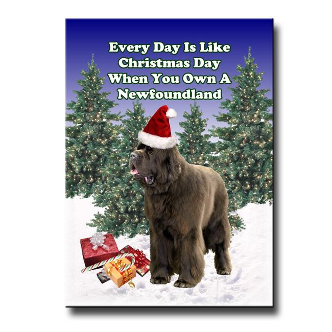 Newfoundland Christmas Holidays Fridge Magnet No 1