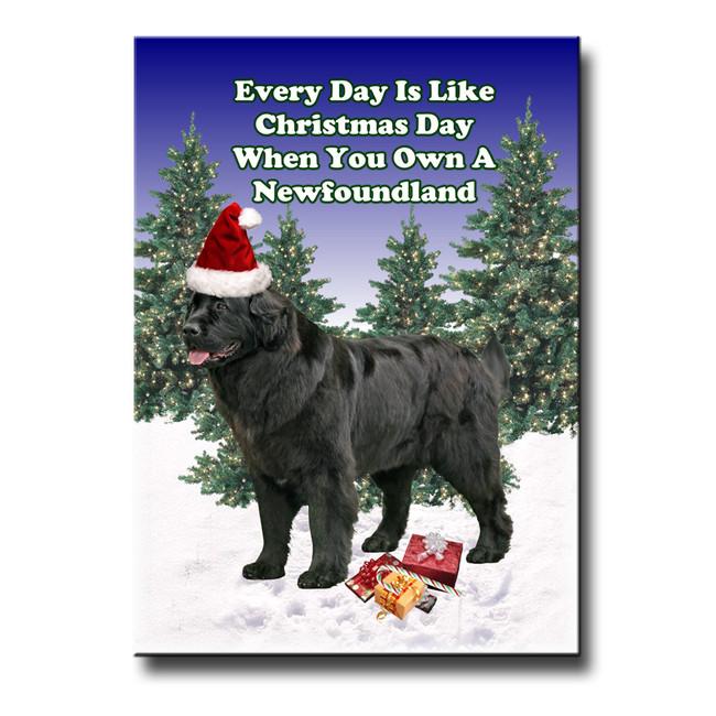 Newfoundland Christmas Holidays Fridge Magnet No 2